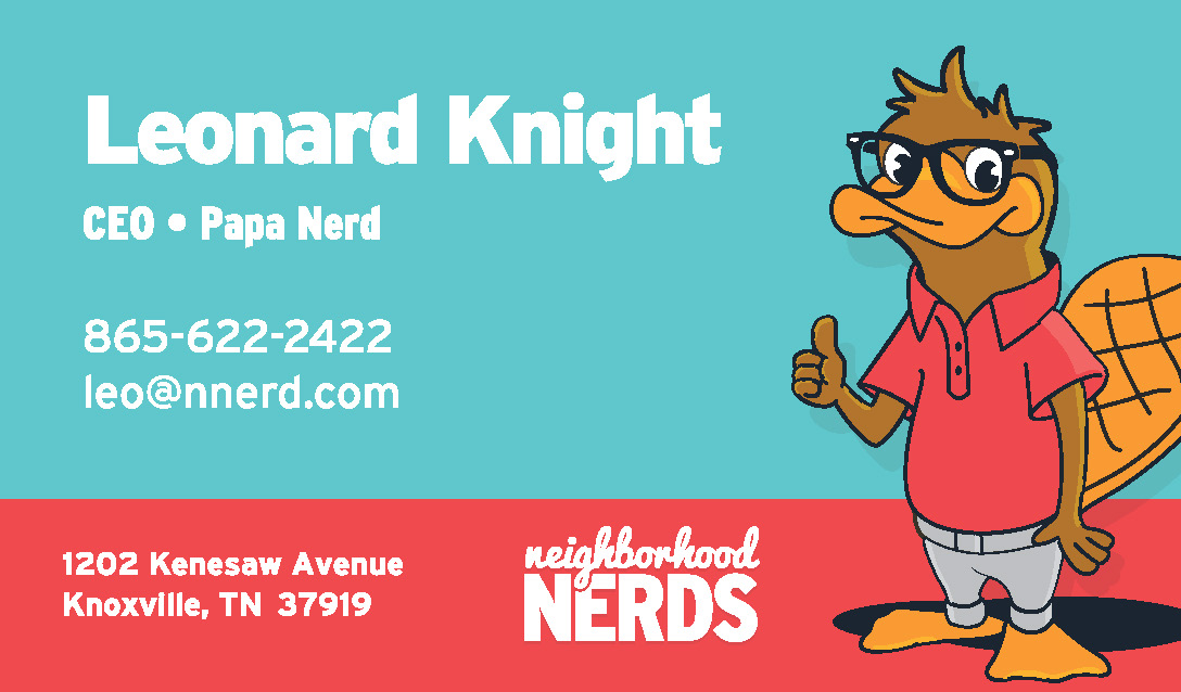 Ethan beyer neighborhood nerds business cards business cards reheart